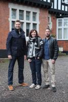 Gill Abraham and Paul Darby with George Clarke