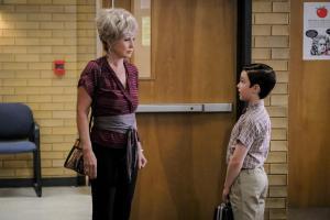 Meemaw (Annie Potts) and Sheldon (Iain Armitage)