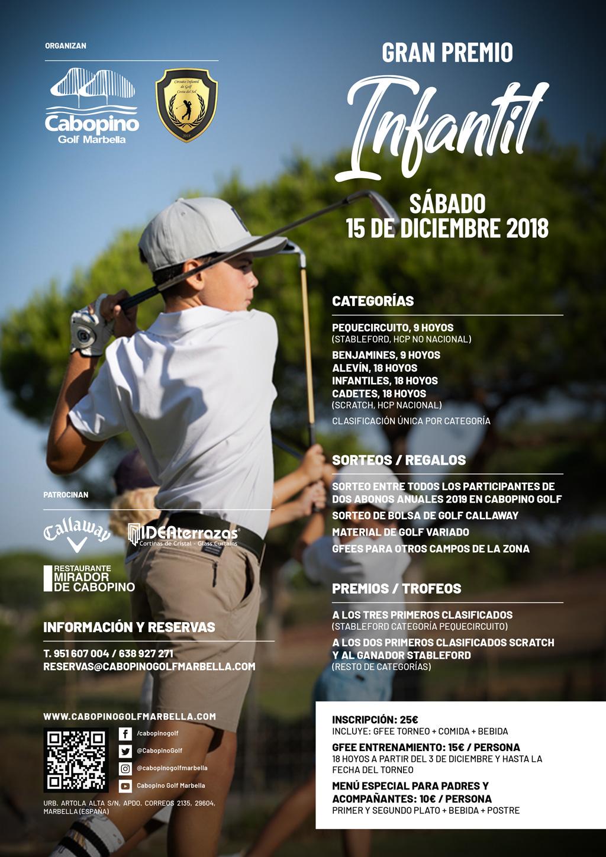 Tornoe infantil de golf navidad 2018