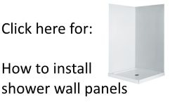 How to install shower wall link