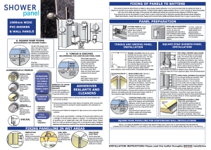 Shower Panel Installation Guide