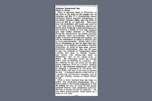 Extract from Wimbledon Borough News regarding Dudley Summerhays