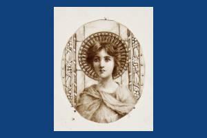 """Miss.E.Walker: """"Ecce Ancilla Domini"""" watercolour"""