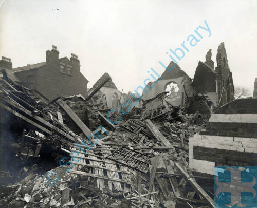 Welsh Chapel, bomb damage, Blitz