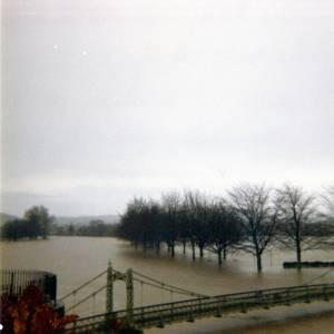 Victoria Bridge, flooded 12th March 1981