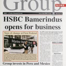 Front cover of the 'Group News' magazine, issued in March/April 1997. The spotlight is on expansion into Latin American markets