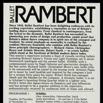 Theatre Royal, Newcastle, November 1984