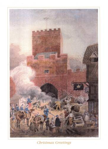 The burning of the North Gate, 1497, Exeter