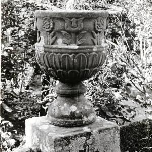 Huntsham Court, Goodrich, stone vase, 1925