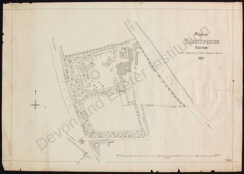 Plan of Taddyforde, 1880, Exeter