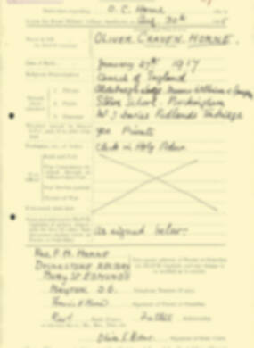 RMC Form 18A Personal Detail Sheets Aug 1935 Intake - page 107