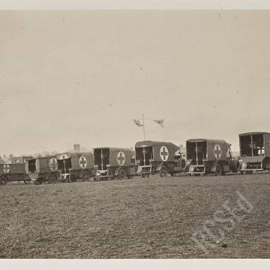 Transport parked at rear of main dressing station