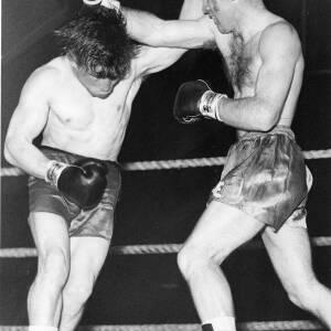 A boxing match.