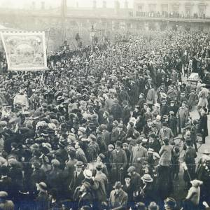 The return of the First Battalion, the Royal Berkshire Regiment, to Reading, 8 April 1919.