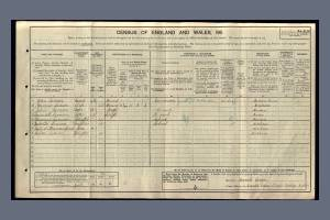 1911 Census - 6 Everett's Place, Phipps Bridge, Merton