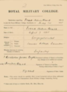 RMC Form 18A Personal Detail Sheets May 1915 Intake - page 16
