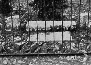 Nelson's mounting stone, St. Mary's churchyard, Merton