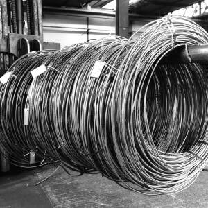 Coils of wire at Wiggins in Hereford.