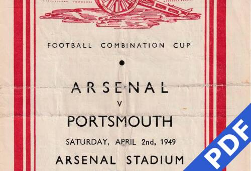 19490402 Official Programme Arsenal Away FCC