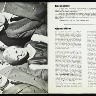 The Syd Lawrence Orchestra, Music in the Glenn Miller Mood, Fairfield Hall, Croydon - 1970 006