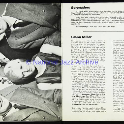 The Syd Lawrence Orchestra, Music in the Glenn Miller Mood, Fairfield Hall, Croydon - 1970 006