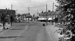 London Road,  Mitcham: from Streatham Road