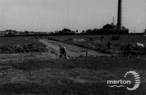 Garth Road Cemetery under construction