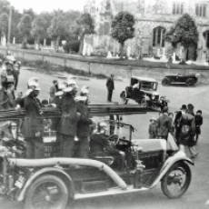 1920s Large Procession Passing All Saints Church (b)