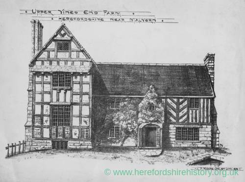 Upper Vines End Farm, Cradley, Herefordshire, print 1876