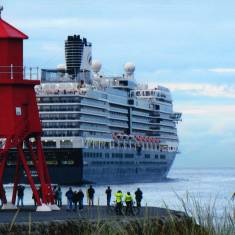 'Eurodam' at South Shields Pier