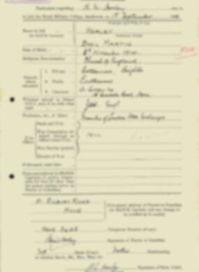 RMC Form 18A Personal Detail Sheets Feb & Sept 1933 Intake - page 219