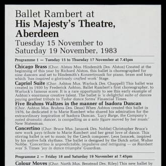 His Majesty's Theatre, Aberdeen, November 1983