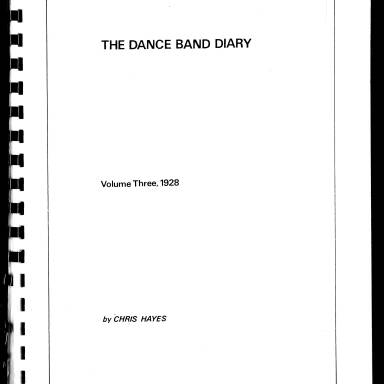 Dance Band Diaries Volume 3 1928