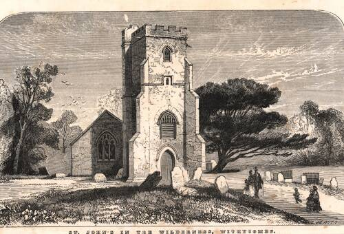 St. John's in the Wilderness, c1870, Withycombe, Exmouth
