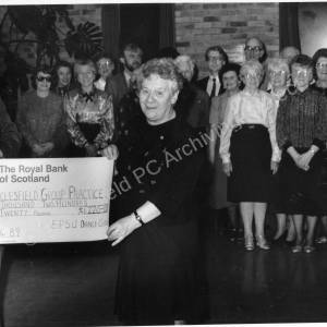 Ecclesfield Group Practice cheque presentation 1989.