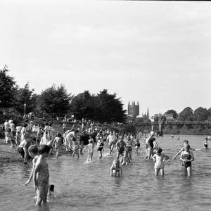 Children Play in the River Wye, 1949