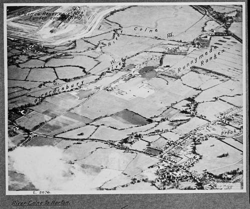 Aerial view of Runnymede