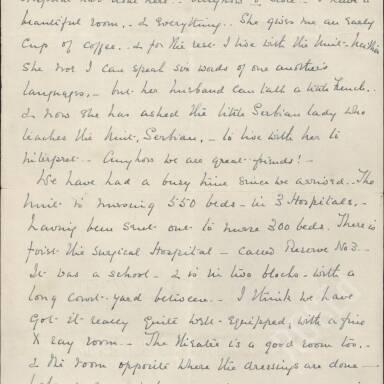 Elsie Inglis to Amy Inglis Simson, May 1915 (Part 2)