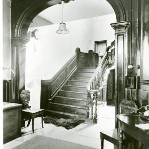 Heywood Lodge, Clehonger, Herefordshire, staircase