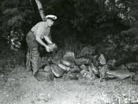 Memorial of John Carter on Vancouver Island 1957