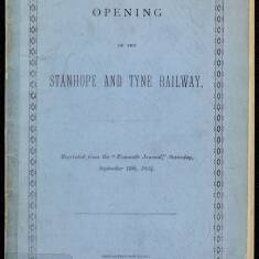 Opening of the Stanhope and Tyne Railway