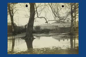 Flooding in Wandle Park , Colliers Wood