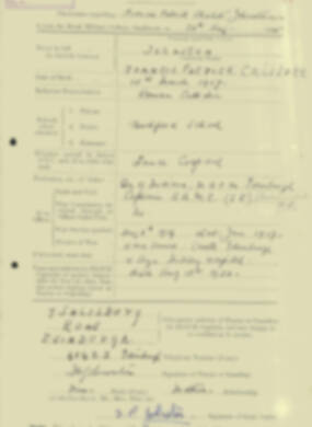 RMC Form 18A Personal Detail Sheets Aug 1935 Intake - page 116