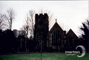 St John The Divine, High Path, Nelson Park in foreground