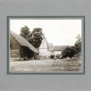 Aylton Court Farm hop kiln and cider mill, 1910
