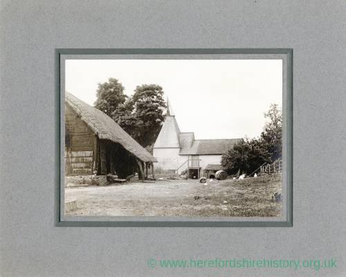 Aylton Court Farm hop kiln and cider mill, 1910