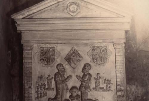 Tomb of Joan Wadham in Branscombe Church, c1900, Branscombe