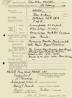 RMC Form 18A Personal Detail Sheets Feb & Sept 1933 Intake - page 250
