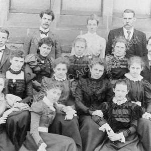 Burncross School Staff c 1900.