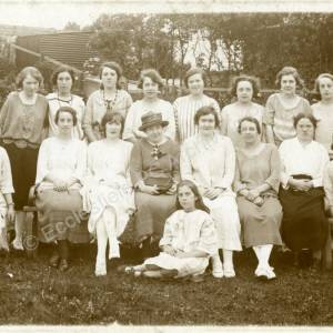 St Mark's Church, Grenoside Girls Friendly Society at Morcambe Holiday Home c1927